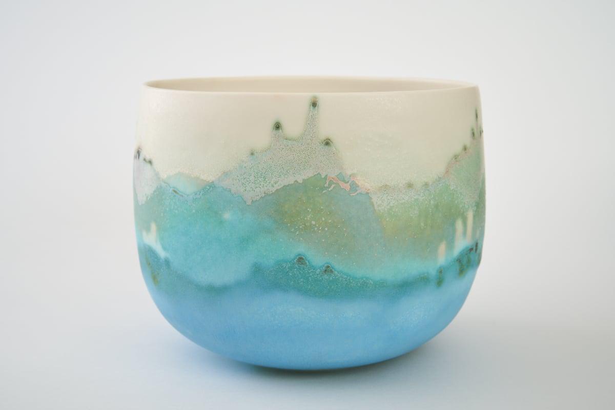 Bol en porcelaine émaillé de Sandrine Baillon