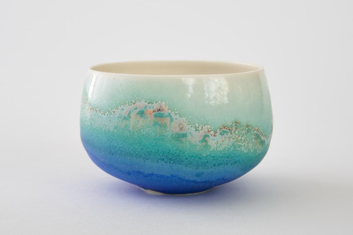 Plat en porcelaine émaillé de Sandrine Baillon